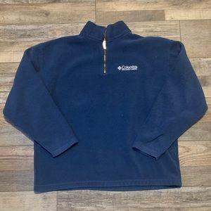 Columbia Quarter Zip Blue Sweater